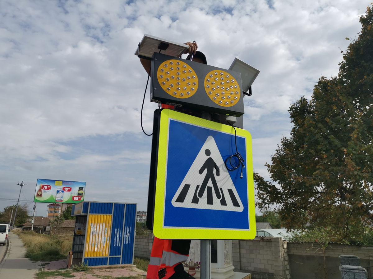 Montarea semnelor rutiere